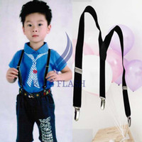 Wholesale Kids Suspenders BOYS GIRLS Suspender Children Clip on Adjustable Elastic Pants Y back Braces Belt Kids Black