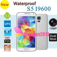 Wholesale Waterproof Real MTK6592 S5 I9600 Octa Core Phone Smart Remote Health Care GB GB MP Camera Android Kit Kat Phones