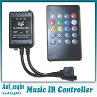 DC advance dc - 20 key infrared music LED ir controller adopts the advanced micro control unit for RGB led strip