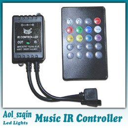 Wholesale 20 key infrared music LED ir controller adopts the advanced micro control unit for RGB led strip