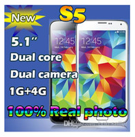 Wholesale New HDC S5 i9600 Smartphone SV Dual Core MTK6572 Android Unlocked M RAM G ROM G WCDMA GPS Cell phone real inch QHD cell phones