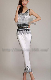 Wholesale Fashion Printed Jumpsuits Round Neck Tank Casual Ladies Jumpsuits Model Of Fashionable T Stage Style M0139