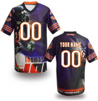 Football Men Short Customized Football Jerseys 2014 Newest Bears Fashion Jersey Thomas Printed Football Shirt Team Game Jersey Personalized Sports Uniforms Kit