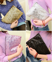 Wholesale Women Ladies Sparkling Bling Sequin Clutch Purse Evening Party Handbag Bag ax134