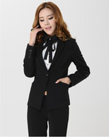 Women Skirt Suit Formal New 2014 Fashion Women Pant Suit Formal Female Blazers Business Sets Plus SIze XXXL Elegant Black Ladies Professional suits Slim