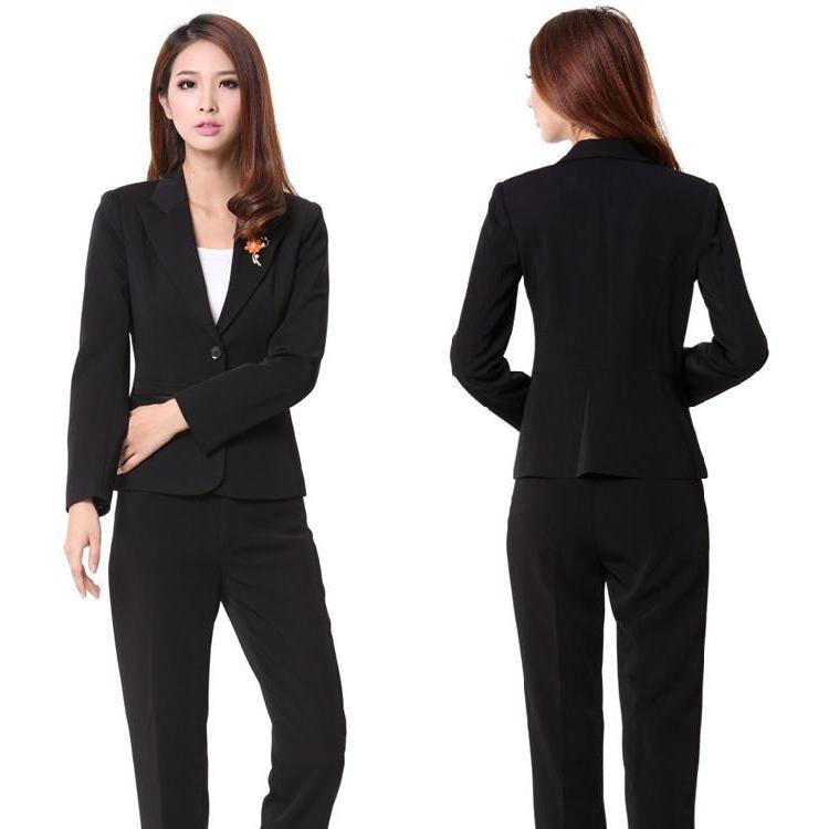 2017 New 2014 Spring And Autumn Women Pant Suits Blazer Jacket ...