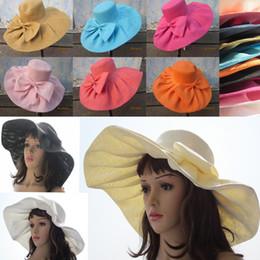 Linen Summer Womens Kentucky Derby Wide Brim Sun Hat Wedding Church Dress Sun Beach UV Protection Cap A047