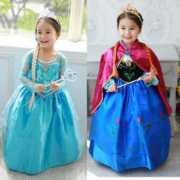 Wholesale in store Frozen Movie fantasia infantil anna elsa princess cosplay anime halloween christmas halloween Character party bady girls dresses