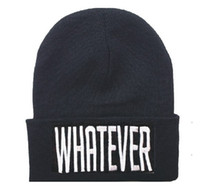Knitted Beanies with Letters for Unisex 100% Acrylic Hats Wh...