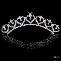 Tiaras&Crowns crowns - Most Popular Alloy Shining Crown Wedding Bride Tiaras Fashion Crowns For Bride In Stock
