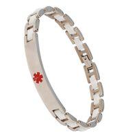 medical id - 2014 steel white magnetic stainless ceramic bracelets medical alert id bracelet