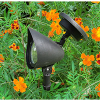 IP66 Garden  Free Shipping 5pcs lot New 3 LED Solar Powered Spotlight Outdoor Garden Landscape Lawn Yard Path Spot decor Light Lamp Auto On Wholesale
