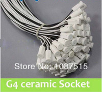 Wholesale 20 CM G4 led profile PC g4 socket crystal light bulb light beads g4 socket lamp base mm wire length