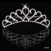 Tiaras&Crowns fashion rhinestone crown - New Shining Rhinestone Crown Wedding Bride Tiaras Fashion Crowns In Stock