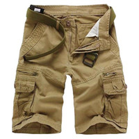 Men cargo shorts - S5Q Men s Casual Loose Camouflage Vintage Multi Pockets Military Army Cargo Shorts Pants AAABWH