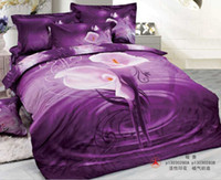 100% Cotton bedding set fabric - Incredible D Purple Temptation Comforters Bedding Sets Queen King Size Cotton Fabric Quilt Duvet Cover Bed Sheet Pillowcases