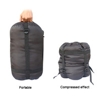 Wholesale BlueField Outdoor Camping Sleeping Bag Nylon Lightweight Compression Stuff Sack Bag Outdoor Camping Hiking Sleeping H10365