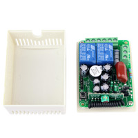 Wholesale New V Channel RF Wireless Remote Control Receiver Relay Module Switch MHz Learning Code F4142B