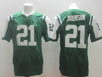 Football Men Short #21 Chris Johnson Green Elite Football Jerseys 2014 New Draft American Football Uniforms Name Number Embroidered Cheap Outdoor Jerseys