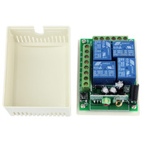 Wholesale New DC12V Channel RF Wireless Remote Control Receiver Relay Module Switch MHz Learning Code F4143B