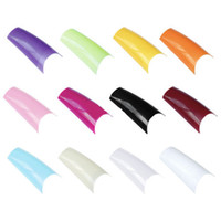 Wholesale 12 set in a bag French Acrylic Artificial Full False Nail Tips color to choose