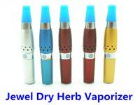 Single Silver Jewel Dry Herb Vaporizer  E Cigarette Dry Herb Vaporizer Jewel Portable Pen Dry Herb Vaporizers Detachable Atomizer With Zipper Case Electronic Cigarette Kits