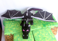 Forrest Animals Black Plush Wholesale - *NEW* Minecraft Plush toy Minecraft Enderdragon Plush toy Ender dragon plush doll 28inch GREAT COLLECTION &gift