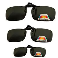 Cheap free shipping 200pcs Clip daily night men and women myopia polarized balck sunglasses clip eyewear fashion goggles