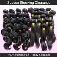 Wholesale inch straight and brazilian body wave hair weave b natural black g bundle human hair cheap hair extensions