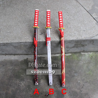 Wholesale 28 Colorful Japanese Samurai Katana Wooden Practice Sword Bokken Kendo Wood for Students Kungfu