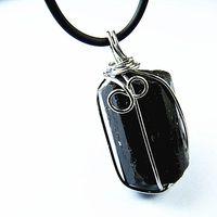 Cheap Beaded Necklaces black tourmaline Best Unisex pendants natural black tourmaline