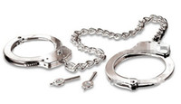 Metal Steel LEG CUFFS Shackles Locking Ankle Restraints