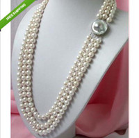 Wholesale 3 strands stunning Charming white AAA SOUTH SEA pearl necklace quot
