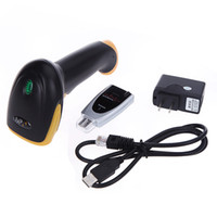 Wholesale 2 G Wireless Cordless Laser Barcode Scanner Bar Code Reader USB Automatic Handheld Barcode Scanner High Speed C1781
