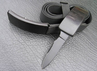 aluminum items - MASTER Leather Belt Knife Waistband Knives Outdoor Item Ebony Handle HRC Survival Pocket Knife Tactical Tools Gift L