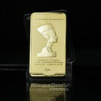 casting ancient egypt cleopatra - Hot Sale Ancient Egypt Pharaoh Cleopatra VII Bullion Bar metal gold coins and bullion bar