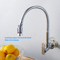 Wholesale In wall mounted brass kitchen faucet fold expansion DIY kitchen sink tap Washing machine faucet BR