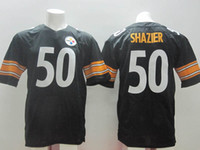 Football Men Short 2014 New Draft #50 Ryan Shazier Black Jersey Cheap American Football Jerseys Highest Quality Mens Team Sports Jersey Outdoor Athletic Wears