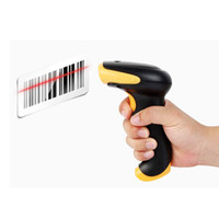 Barcode Scanner laser barcode scanner - 10pcs Hot G RF Wireless Cordless Laser Barcode Scanner Bar Code Reader USB Automatic Handheld High Speed Can Storage Barcode C1781