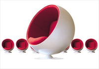 Wholesale Eero Aarnio Ball chair Fashion design Modern design fiberglass shell fabric inner fiberglass chair cashmere seat cushion sofa fashion design