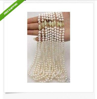Wholesale hot PC mm Akoya AAA white pearl necklace quot k Gold