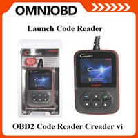 Wholesale 2014 Launch creader vi Launch Creader OBD2 Code reader Promotion Color screen obd4
