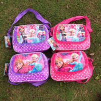 Wholesale Frozen Satchel Bags Bags Elsa Anna Satchel Bags Fashion Bag Kids Backpack Handbags Children Backpacks Girls Single Shoulder Bags FS DG06