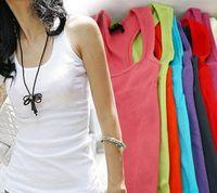 Wholesale Summer hot selling woven cotton rib knitting women s tank Tops long design