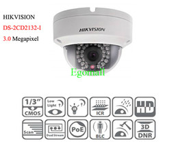 Wholesale Hikvision DS CD2132 I MP Network Mini Dome Camera cctv camera M IR Digital HD waterproof with POE