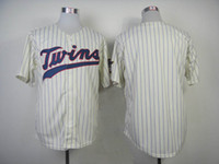 Wholesale Blank Jersey Cream with Purple Pinstripe New Twins Jerseys Minnesota Team Cool Base Baseball Jerseys Authentic Athletic Apparel Sale