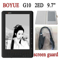 Wholesale BOYUE G10 inch E book Reader Russian English HD E ink Pearl Screen Higher Resolution White Ebook WIFI Have nearly Languages
