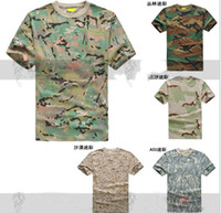 Safety Clothing   Tactical Military Mens Summer Short Sleeve Camouflage T Shirt Outdoor Cycling Camping Sports T-shirts Army Clothing Airsoft Cotton CP