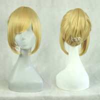 100% High Temperature Fiber Wig,Half Wig kanuo free shipping 30cm women blonde synthetic heat-resistant short wig with 3 ponytails V family vocaloid cosplay anime party wigs