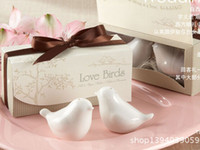 Kitchen Tools boxes for spices - DHL FREE European creative gift love bird Wedding Favors bird Seasoning pot for spice pepper shaker kitchenware Boutique Gift box